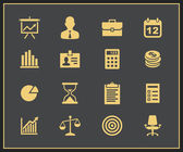 Business and financial icon set — Stock Vector