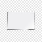 Paper sheet on transparent background — Stock Vector