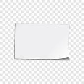 Paper sheet on transparent background — Stockvektor