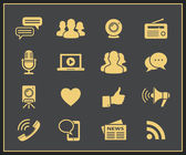Media and social icons — Stock Vector