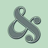 Ampersand — Stock Vector