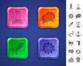 Boutons colorés en mosaïque — Vecteur