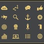 SEO icon set — Stock Vector