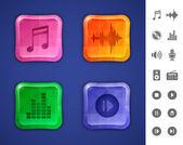 Icônes de la musique et du son — Vecteur