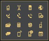 значки управления мобильной учетной записи — Cтоковый вектор
