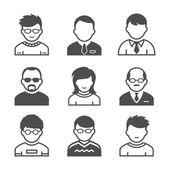 значки пользователей — Cтоковый вектор