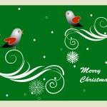 Greeting card - Chrisnmas theme — Stock Vector
