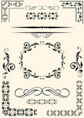 Set of design elements in vintage style vectorized — Stock Vector