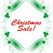 Chrisnmas theme - Christmas sale banner. Vector illustration. — Vettoriali Stock