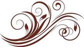 Květinové pozadí s dekorativní větev. — Stock vektor