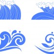 Set of wave symbols for design — Stock Vector #24932821