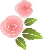 Fundo floral com abstrato flor rosa — Vetorial Stock