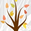 Stock Vector: Abstract autumn tree. Vector illustration.