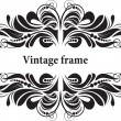 Decorative frame for design in vintage styled — Stockvectorbeeld