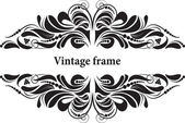 Decorative frame for design in vintage styled — Vecteur