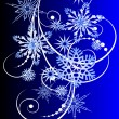 Christmas card with snowflakes vectorized — Stock Vector