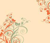Bloemmotief met decoratieve tak. vectorillustratie. — Stockvector
