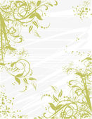 Floral pattern with decorative branch. Vector illustration. — Stock Vector