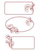Decorative frames - element for design in vintage style — Stock Vector