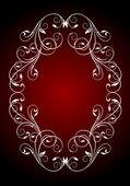 Vintage pattern background - decorative oval frame for design. — Stock Vector