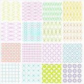 Set of simple geometric vector patterns - lines on  background — Stock Vector