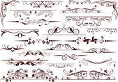 Conjunto de elementos decorativos para editar y diseñar — Vector de stock