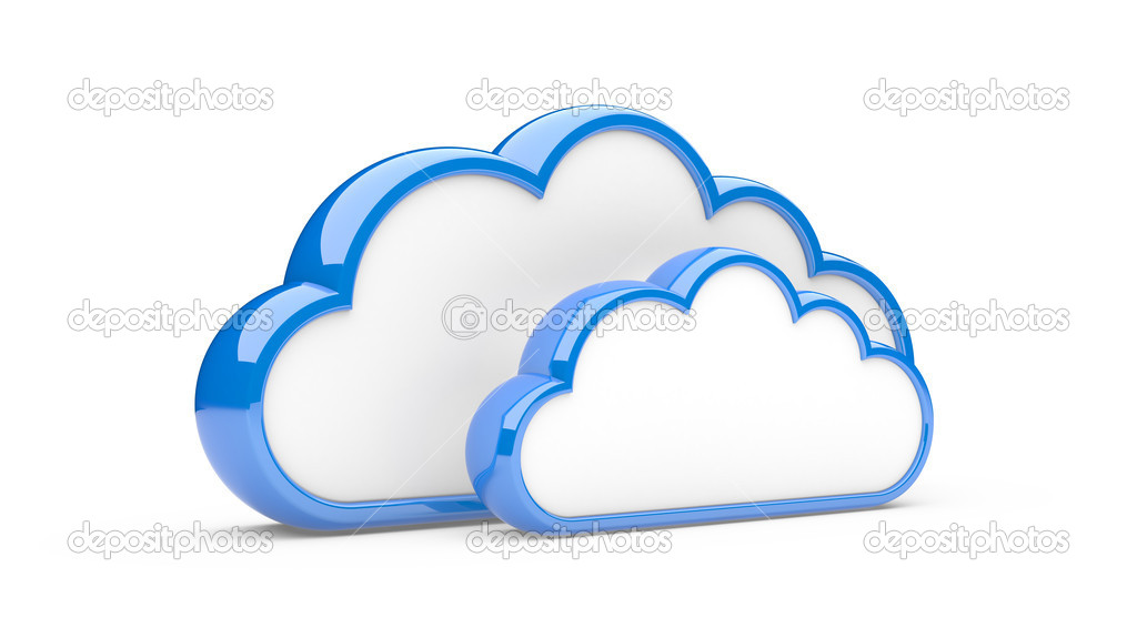 Clouds isolated on a white background. 3d illustration — Stock Photo #13144419