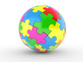 Color spherical puzzle — Stock Photo