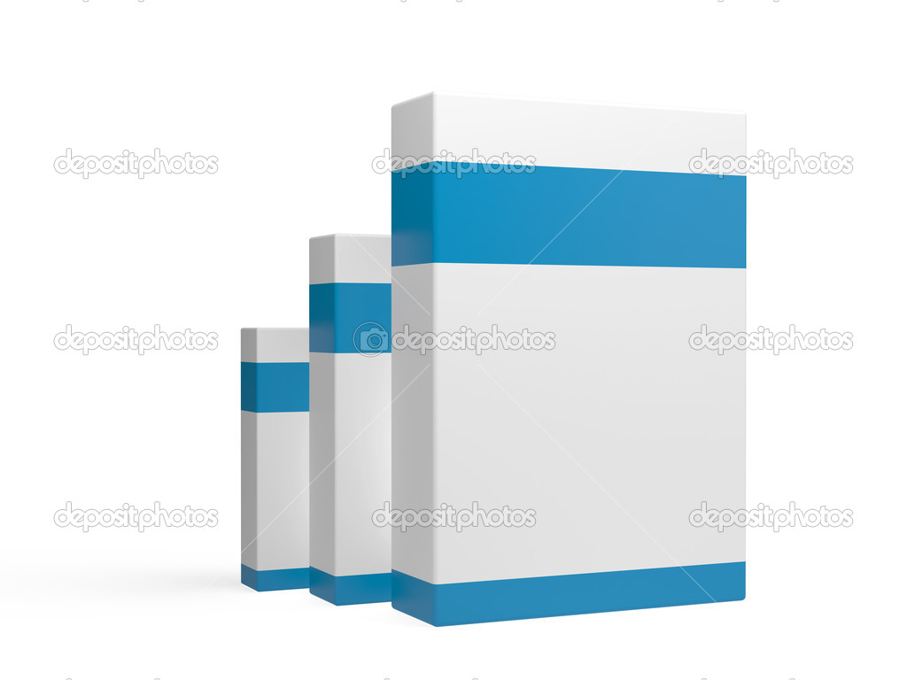 White box on a background  — Stock Photo #13719157