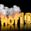 Rating of Top10, hot ten — Stock Photo