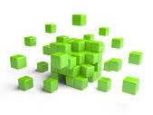 Cube assembling from blocks. — Stock Photo