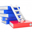 Folders and ladder - Stock Photo