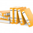 Stock Photo: Orange ring binder