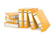 A orange ring binder — Stock Photo