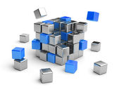 Cube assembling from blocks. — Stock Photo