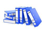 Blue ring binder i — Stock Photo