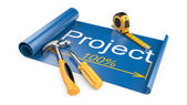The design document - the drawing and working tools — Stock Photo
