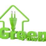 Green power. energy concept — Stock Photo