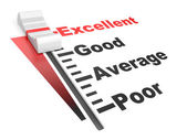 Evaluation rate - excellent - poor. — Stock Photo
