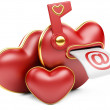 Red love mailbox. — Stock Photo