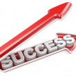 Stock Photo: Success arrow