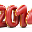 3D 2014 year red figures with golden edging — Stock Photo #34734265