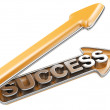 Success arrow — Stock Photo