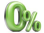 Verde zero por cento. — Fotografia Stock