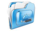 Cloud storage concept 3d icon — Stockfoto