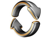 Twee cirkelvormige pijlen — Stockfoto