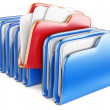 Folders and files. — Foto Stock