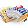 Stock Photo: Cloud storage concept