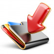 Stock Photo: Download folder 3d icon.