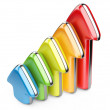 3D colorful arrows growth upward — Stock Photo #37757229